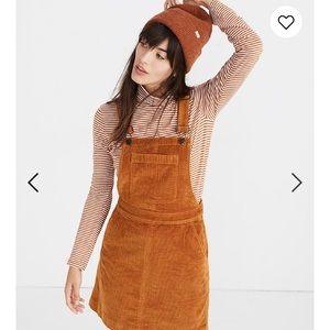 MADEWELL corduroy overall skirt